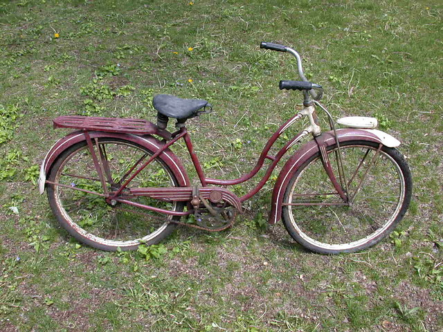 33ea72feab8 ... Vintage Schwinn girls cruiser bicycle with headlight | by E. Bartholomew