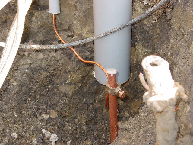 Pleasant New Ground Rod And Ground Wire Chrisg583 Flickr Wiring Cloud Rectuggs Outletorg