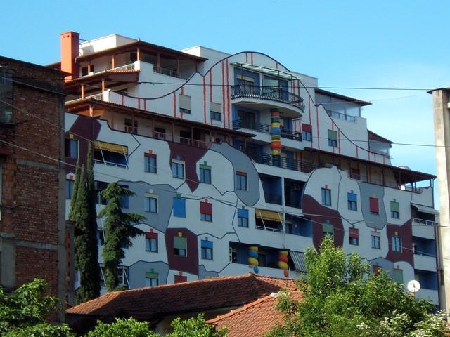 Tirana, Redecorated Building