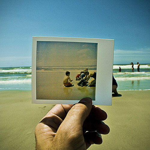 ocean vacation beach polaroid interestingness sand surf metaphoto northcarolina wiseacre paularmstrong