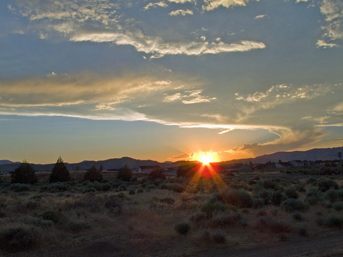 sunset sky sun clouds landscape nevada reno
