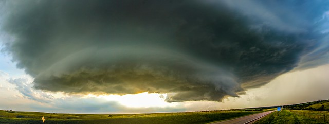 071515 - Red Cloud Nebraska Supercell (Pano)