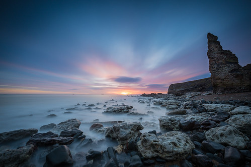 sunrise chemicalbeach leegraduatedfilter mist ndfilter le canon5dmkiii waves longexposure coastline rocks water motion neutraldensity dawn movement seascape canonef1635mmf4lisusm countydurham seaham leelittlestopper
