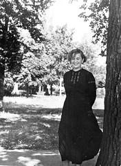 Зоя Васильевна Янушевич, Житомир, в парке, 1940 г.