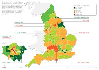 Change in Supporting People allocation 2011/12