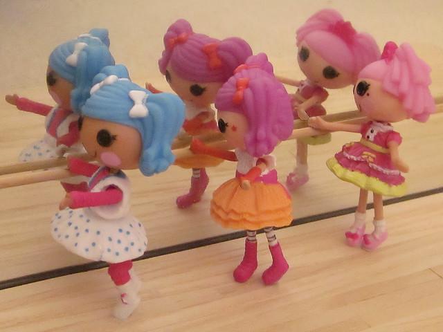 Mini Lalaloopsy at the Ballet Barre