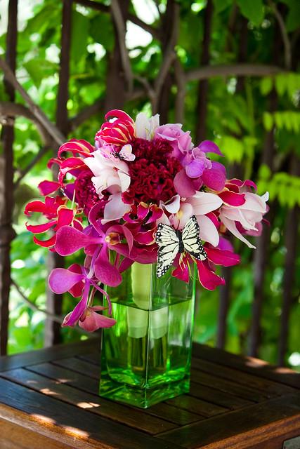 San Martin Wedding Flowers, Hot Pink Bridal Bouquet