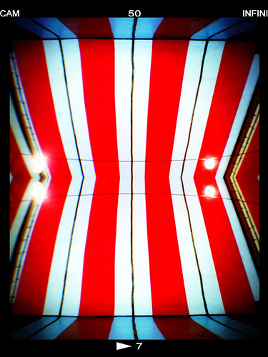red white black lines industrial stripes angles tent symmetry ceiling striped linear iphone iphonography prohdr fxphotostudio infinicam