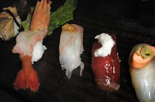 traditional sushi plate