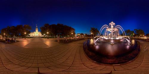 La Fountaine de Tourny - Equirectangular Panoramic in Quebec City   by haban hero