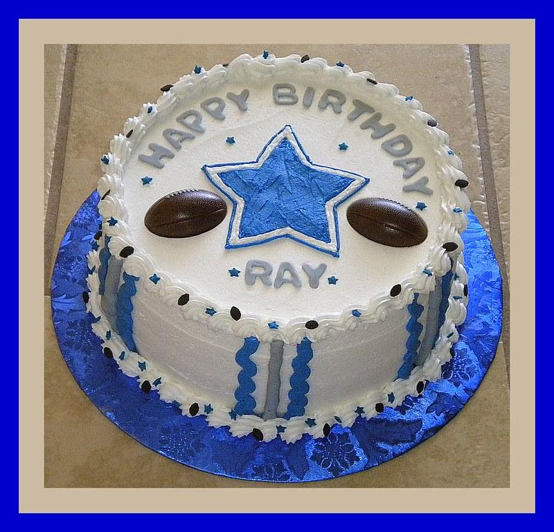 Astonishing Dallas Cowboys Birthday Cake Tinkabellz17 Flickr Funny Birthday Cards Online Alyptdamsfinfo