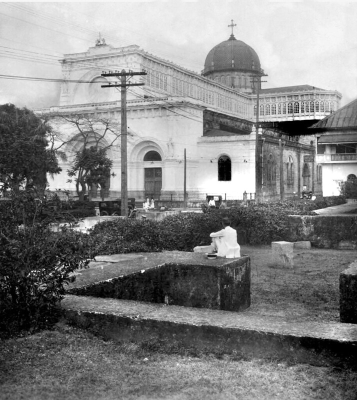 Manila Cathedral, Intramuros, Manila, Philippines, unknown date, (Early 20th century up to 1930s)