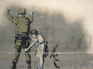 Banksy Graffiti - Bethlehem   by aarsbog