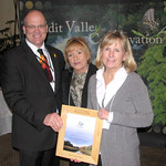 The Coalition of Concerned Citizens - Certificate of Merit. Councillor Allan Thompson, Councillor Joan Robson and Penny Richardson