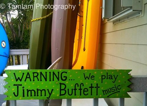 Jimmy Buffett sign