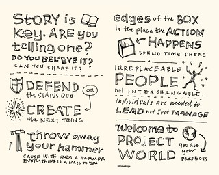 Chick-Fil-A Leadercast Sketchnotes 07-08 - Seth Godin | by Mike Rohde