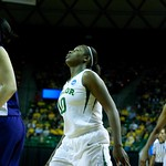 Robin Jones #25, Destiny Williams #10, Dominique Smith #1