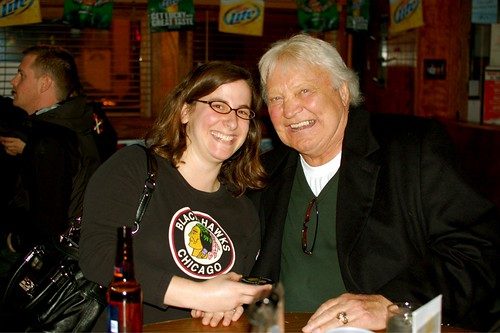 With Blackhawks legend Bobby Hull | by Julie Rubes