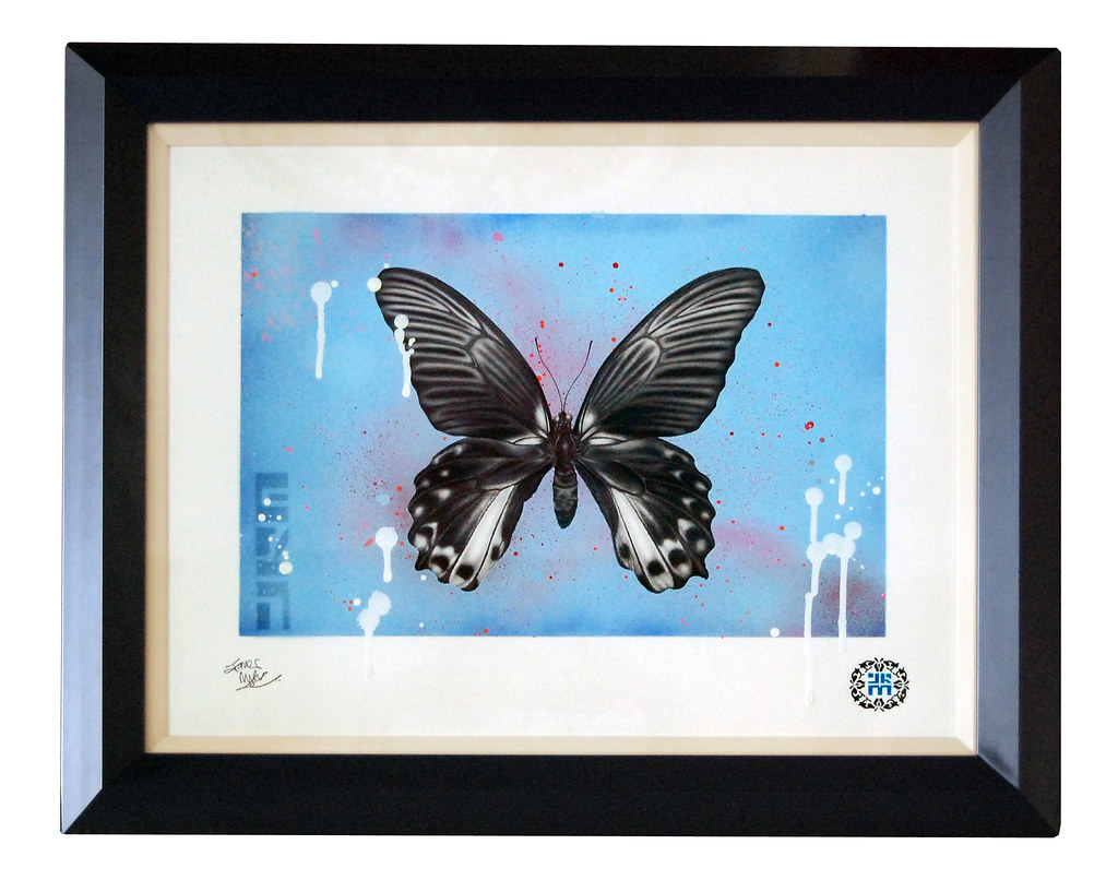 Black Butterfly Art Paint