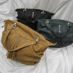 Vincy兩用單扁袋(黑色,藍色,駱駝色)