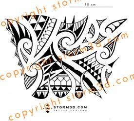 Forearm Flames Tribal Polynesian Tattoo Design A Mix Of Ol Flickr
