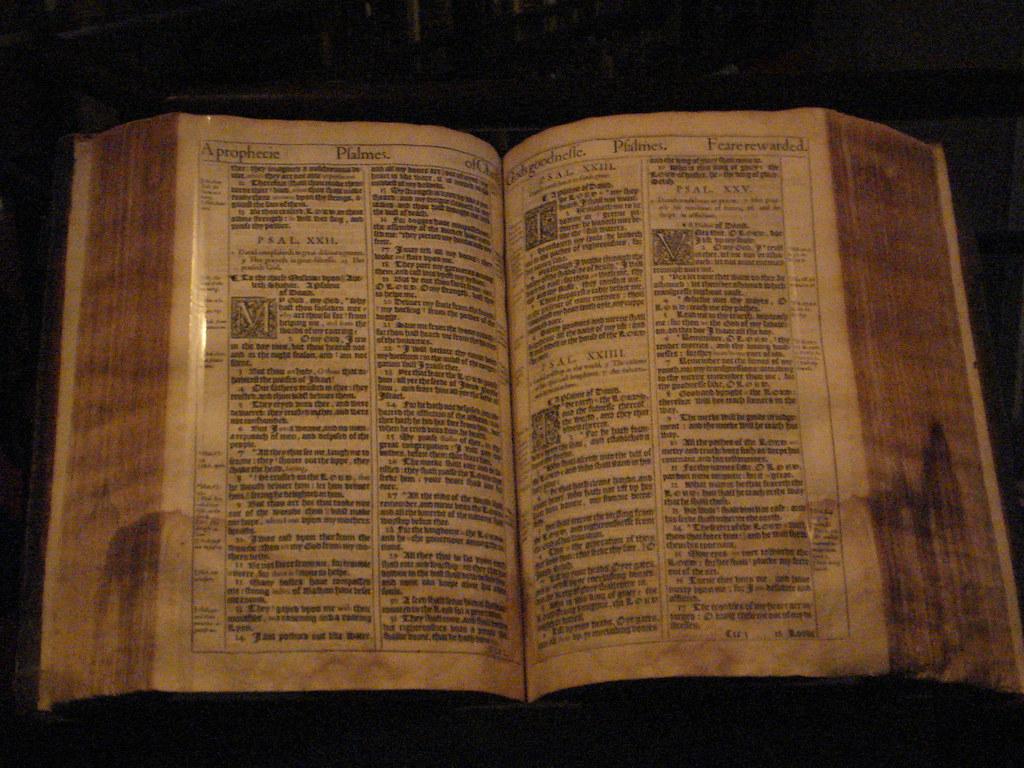 King James Bible 1611 at Thomas Fisher Rare Books Library