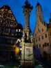 Rothenburg ob der Tauber, večer na Marktplatz, foto: Petr Nejedlý