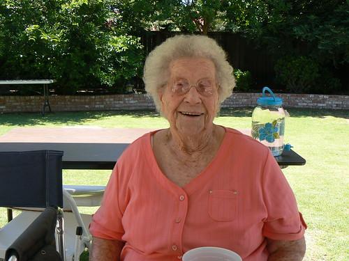 Mom on her 93rd birthday