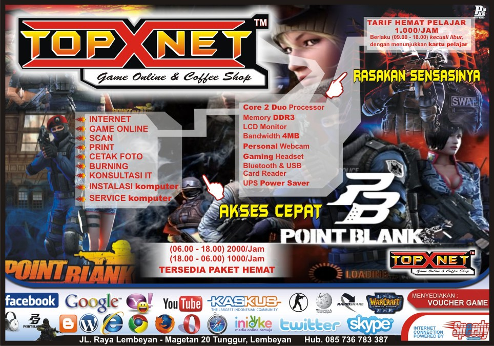 Banner Warnet Game Online By Topik Kristanto