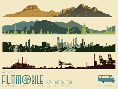 Echo Park Film Center Filmmobile Tour Poster  Coming to Lynden, July 25, 2011.