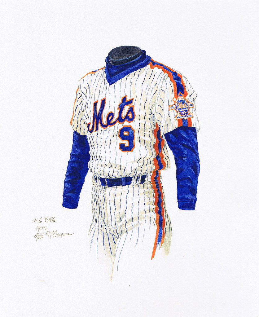 purchase cheap e6052 90277 New York Mets 1986 uniform artwork | This is a highly detail ...