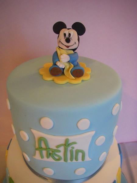 Tremendous Baby Mickey 1St Birthday Cake Natalie Flickr Funny Birthday Cards Online Alyptdamsfinfo