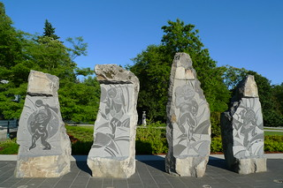 Deer Lake Park sculpture 'Vitality' by Thomas Cannell   by jmv