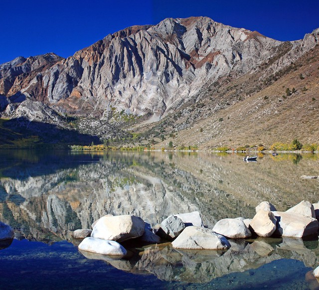 Stitched shot of Convict Lake - any advice on how to match the sky color?