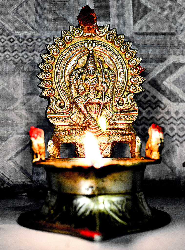 Hindu Oil Lamp Oil Lamps Are Commonly Used In Hindu