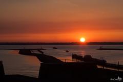 Sunset Krammersluizen