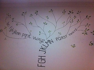 The mural so far - alphabet tree | by Maiboo