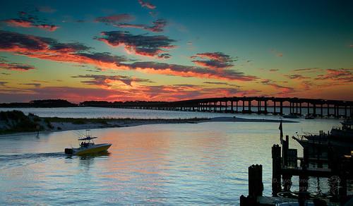 sunset harbor boat florida destin
