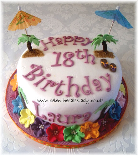 Awe Inspiring Hawaiian Cupcake Tower 18Th Birthday Cake Helen Flickr Funny Birthday Cards Online Kookostrdamsfinfo