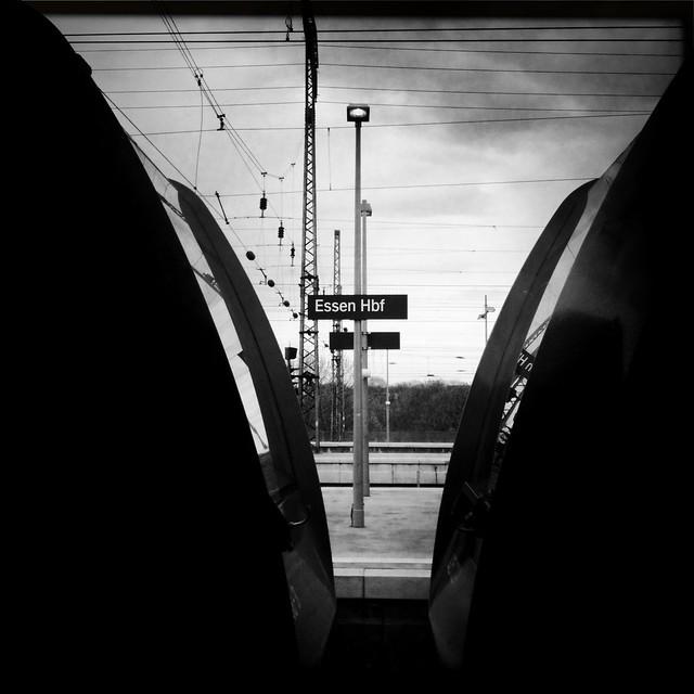 Zwischen zwei Zügen