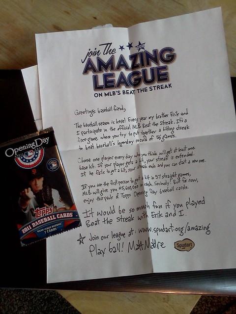 Spudart sent me baseball cards!