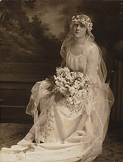 This Wedding Dress From 1915 Is A Simple Dress Made Of Sil Flickr