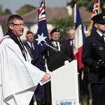 110419 Chaplain (Group Captain) Kevin Russell presided over the funeral service of Flight Lieutenant Henry %u2018Lacy%u2019 Smith at the Ranville War Cemetery, France
