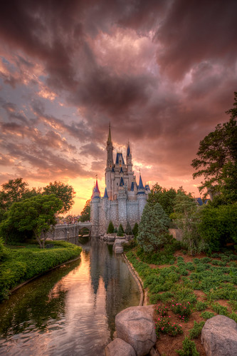 world sunset castle disney walt hdr photomatix