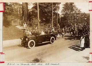 Prince of Wales in Toronto. Fall 1919. Royal Canadian Dragoons Escort