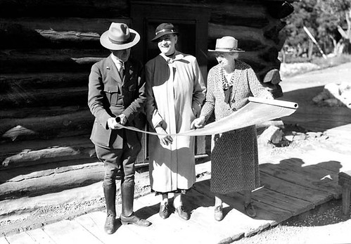 16942 Grand Canyon Historic_ Mary Colter Looking at Plans c. 1935 | by Grand Canyon NPS