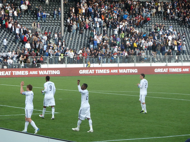 Whitecaps salute the fans after a legendary draw