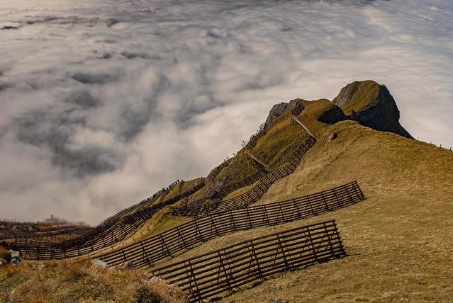 Swiss Autumn Time / A view  from The Männlichen (2,343 m). Canton of Bern. Switzerland. Izakigur October 14, 2010. No. 254