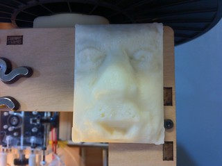 Slightly less grumpy version of my 3D printed face #makerbot #trimensional