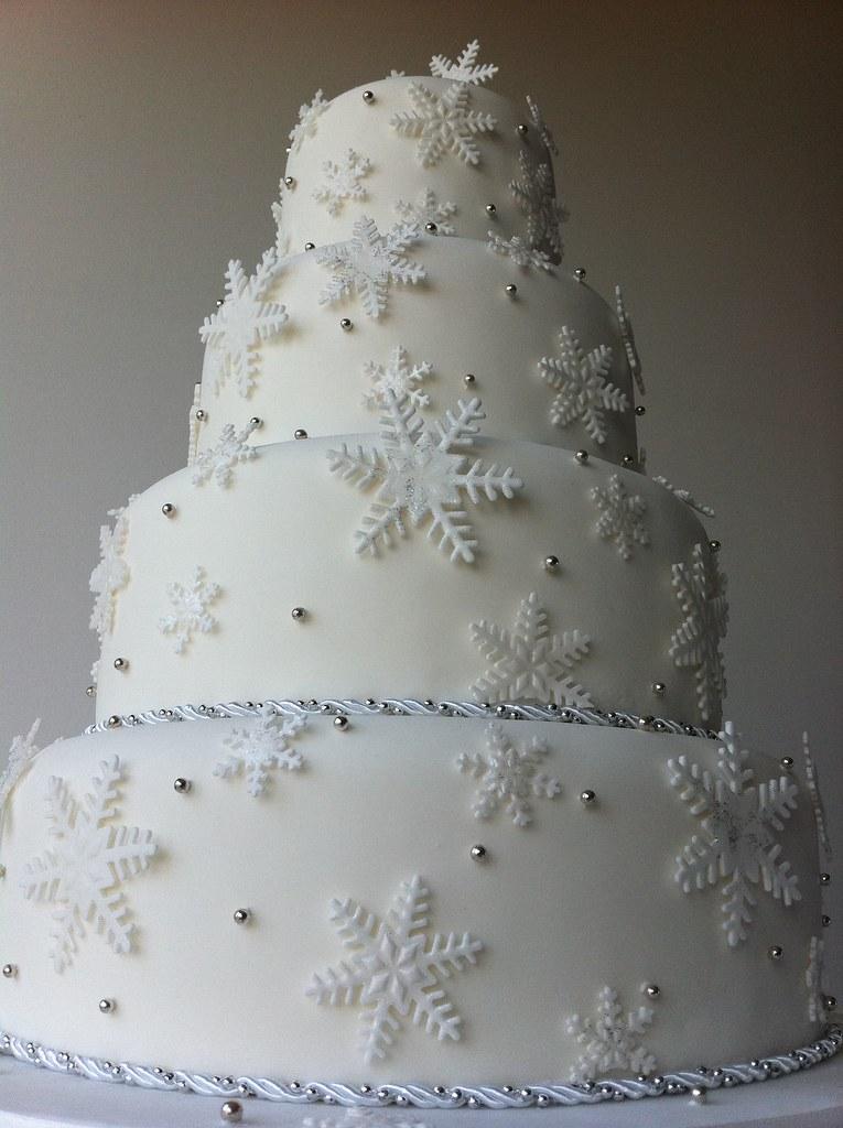 'Winter Wonderland' 4 Tier Wedding Cake   fully decorated ...